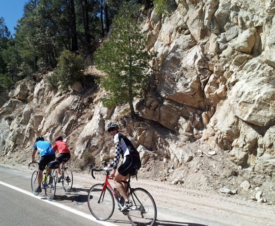 Vélo de route Arizona camp base Tucson